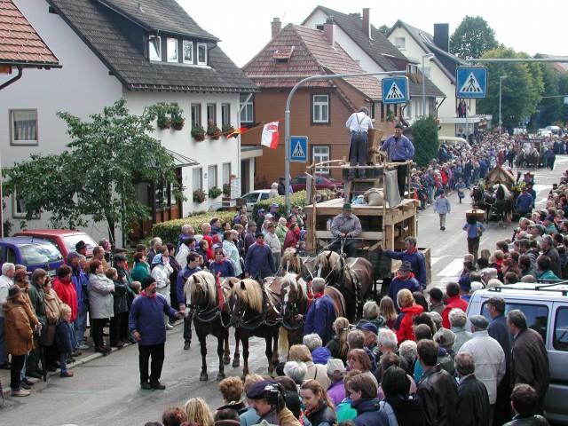 Motivwagen auf dem Rossfest St. Märgen
